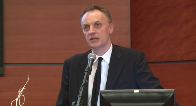 The Lancet editor Richard Horton speaks at Rambam hospital in Haifa. Credit: YouTube.