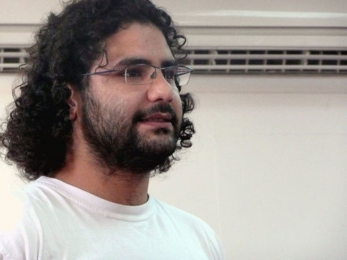 Egyptian activist and blogger Alaa Abdel Fattah. Credit: Wikimedia Commons.