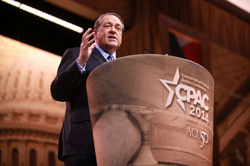 Former Arkansas governor Mike Huckabee. Credit: Gage Skidmore.