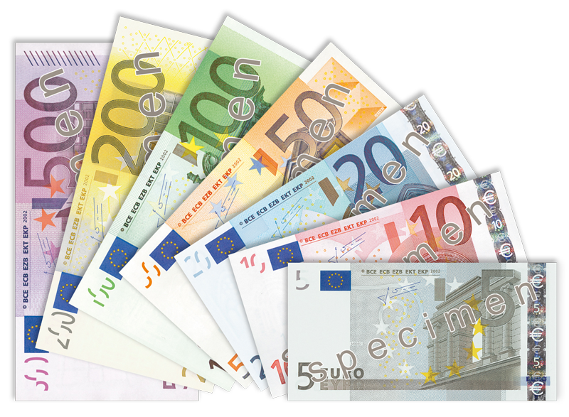 Euro banknotes. The Europe-based SWIFT banking network will not boycott Israeli banks. Credit: Wikimedia Commons.