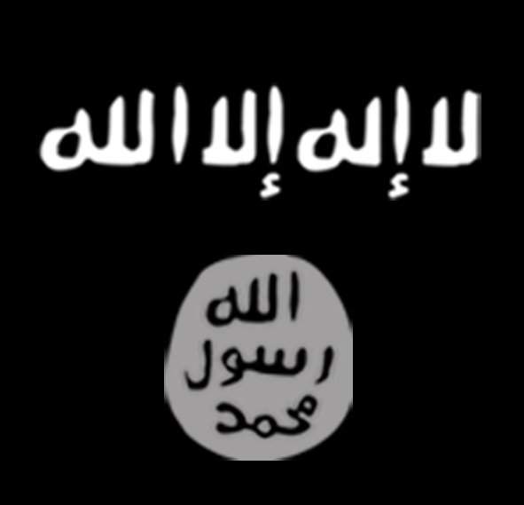 The flag of Islamic State. Credit: Wikimedia Commons.