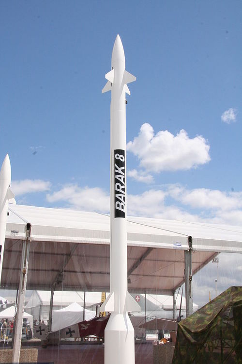 Israel's Barak 8 missile, which is used in an anti-missile system designed to protect naval vessels. Credit: Georges Seguin via Wikimedia Commons.