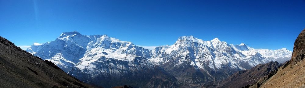 The Annapurna mountain range in Nepal. Credit: Leridant via Wikimedia Commons.