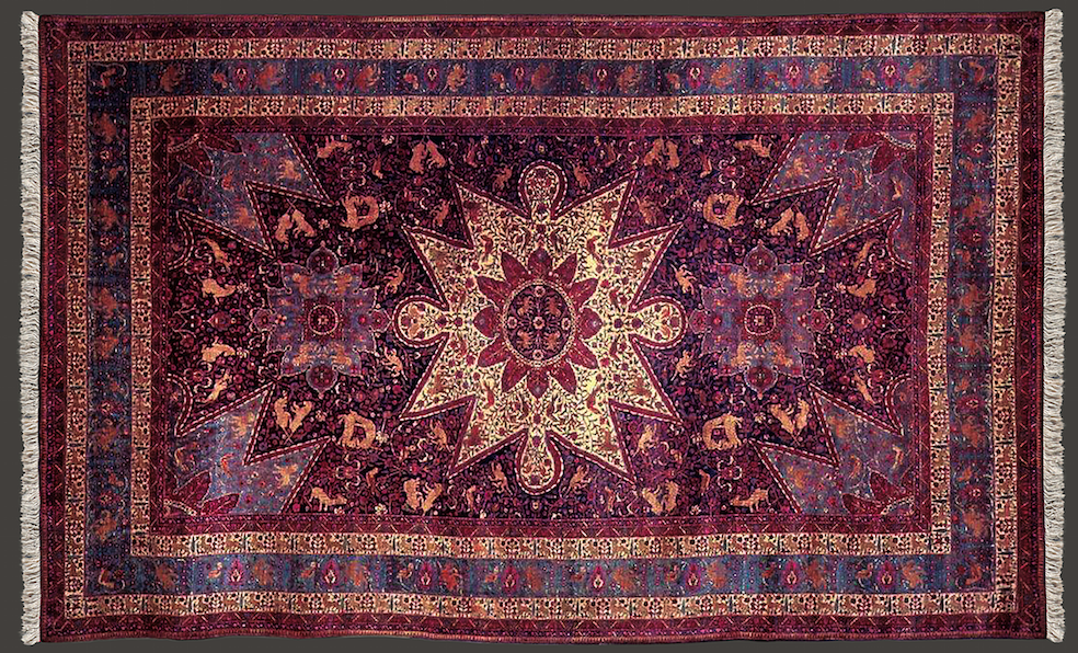 Click photo to download. Caption: The Armenian Orphan Rug. Credit: Armenian Cultural Foundation.