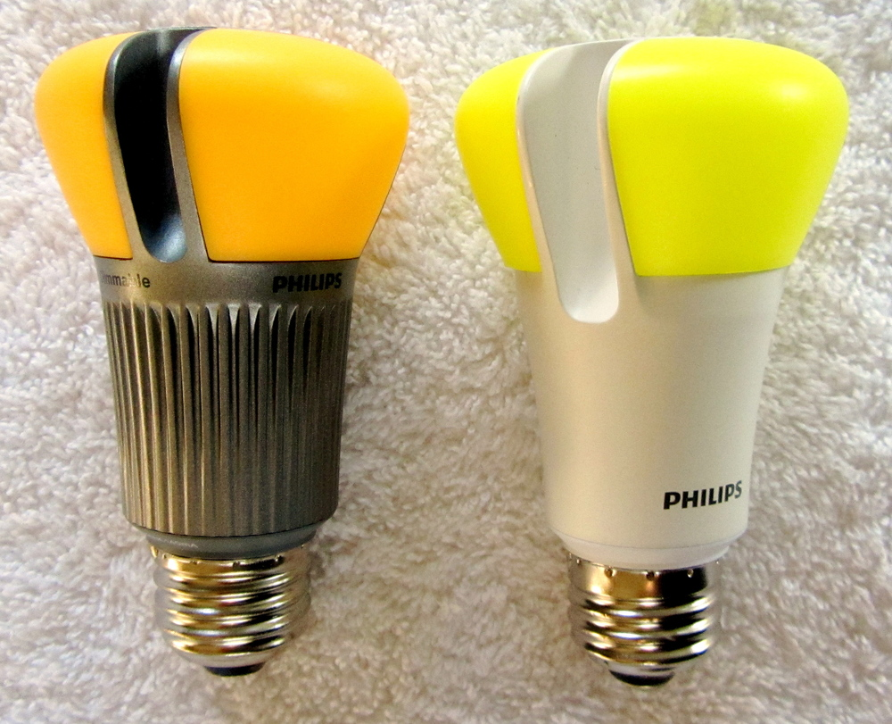 Click photo to download. Caption: Change incandescent light bulbs to LED bulbs like the ones pictured (from Philips) is a sustainability measure that can be taken for Hanukkah, Jewish environmental activist David Krantz says. Credit: Geoffrey A. Landis.