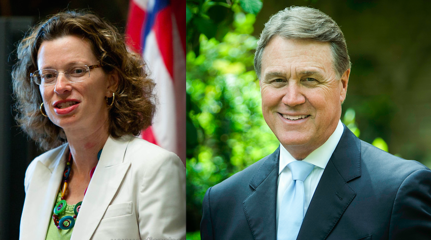 Click photo to download. Caption: Michelle Nunn and David Perdue, candidates for the U.S. Senate in Georgia. Credit: Corporation for National and Community Service and Palmetto Crescent via Wikimedia Commons.