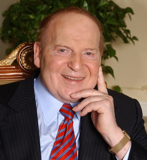 Click photo to download. Caption: Jewish philanthropist and Zionist activist Sheldon Adelson (pictured) will speak at the Israeli-American Council's inaugural national conference in Washington, DC. Credit: Denise Truscello.