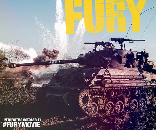 "Click photo to download. Caption: A movie poster for ""Fury."" Credit: Fury Facebook page."