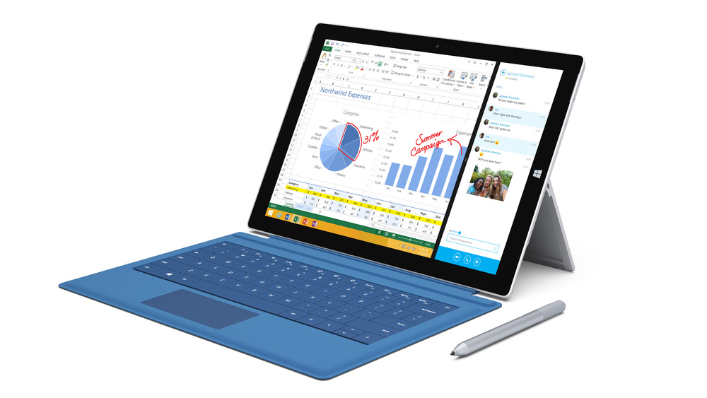 The Microsoft Surface Pro 3. Credit: Microsoft.