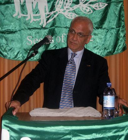 Palestinian negotiator Saeb Erekat. Credit: Seeds of Peace via Wikimedia Commons.