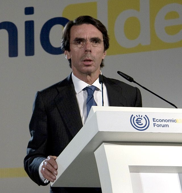 Former Spanish Prime Minister Jose Maria Aznar. Credit: Wikimedia Commons.