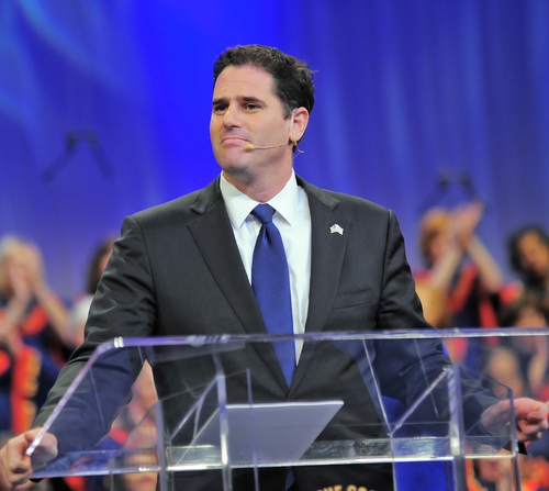"Click photo to download. Caption: Israeli Ambassador to the U.S. Ron Dermer addresses Christians United for Israel's ""Night to Honor Israel"" on Oct. 26 in San Antonio. Ahead the Nov. 4 midterm elections, National Security Adviser Susan Rice reportedly said she has not yet met with Dermer—who was appointed 16 months ago—because he is ""too busy traveling to Sheldon Adelson's events in Las Vegas."" Credit: Paul Wharton Photography."