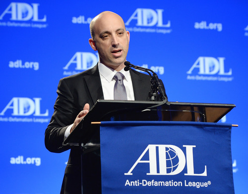 Social entrepreneur and government official Jonathan Greenblatt, the next national director of the Anti-Defamation League, speaking at the ADL Annual Meeting in Los Angeles on November 6, 2014. Credit: ADL.