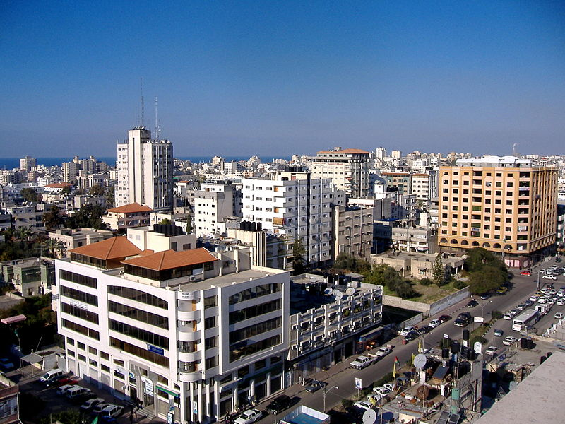 The skyline of Gaza City. Credit: Wikimedia Commons.