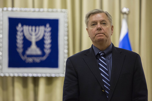 Click photo to download. Caption: U.S. Sen. Lindsey Graham (R-S.C.) at the President's Residence in Jerusalem on Jan. 4, 2014. Credit: Yonatan Sindel/Flash90.