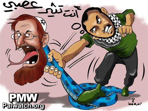 The Capital City cartoon on Temple Mount activist Yehudah Glick. Credit: Palestinian Media Watch.