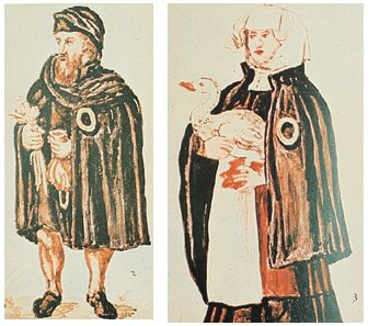Jews from Worms, Germany, during the Middle Ages. The majority of Ashkenazi Jews descent from a very small group of ancestors composed of both Middle Easter and European individuals. Credit: Wikimedia Commons.