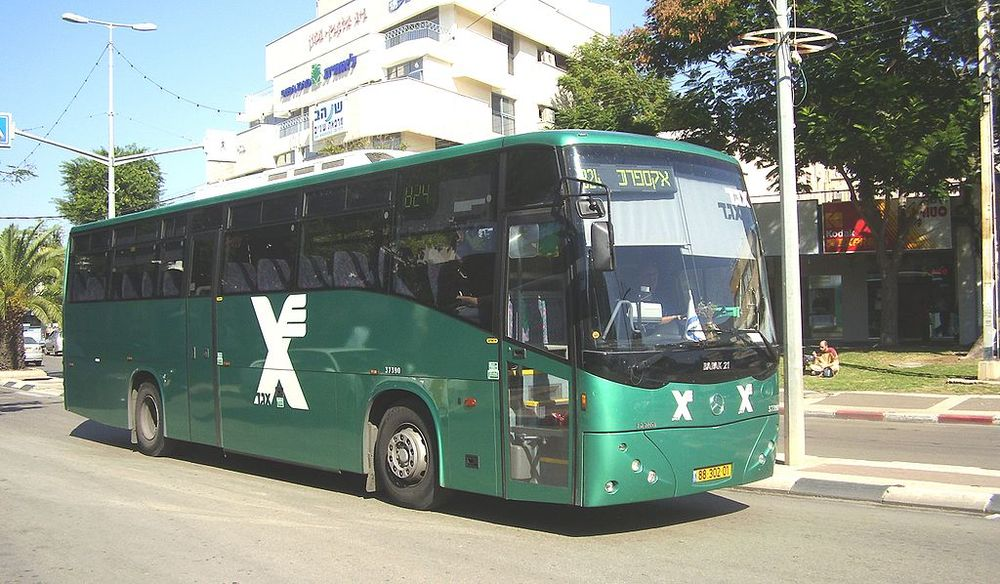An Israeli Egged bus. Credit: Wikimedia Commons.