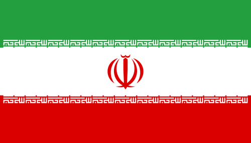 The Iranian flag. Credit: Wikimedia Commons.