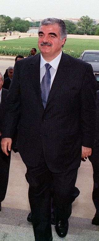 Assassinated Lebanese prime minister Rafik Hariri. Credit: Wikimedia Commons.