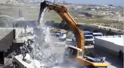 Israel is demolishing the homes of Palestinian terrorists who attacked a Jerusalem synagogue (illustrative). Credit: YouTube screenshot.