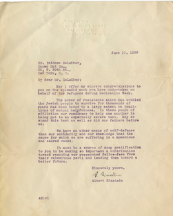 Albert Einstein's 1939 letter. Credit: Screenshot from  Nate D. Sanders Auctions.