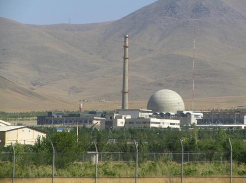 The Iran nuclear program's heavy water reactor in Arak. Credit: Wikimedia Commons.