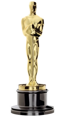 The Academy Awards trophy. Credit: Wikimedia Commons.