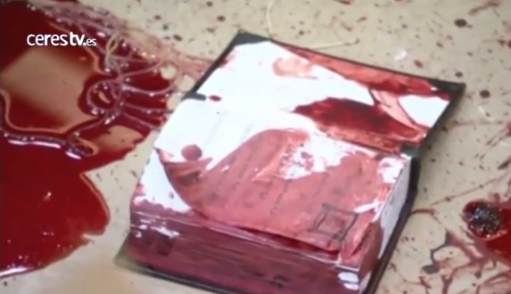 Footage of the carnage of the bloody attack on a Jerusalem synagogue by Palestinian terrorists. Credit: YouTube screenshot.