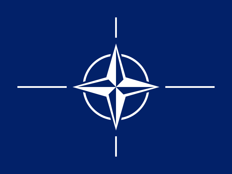 The NATO flag. Credit: NATO.