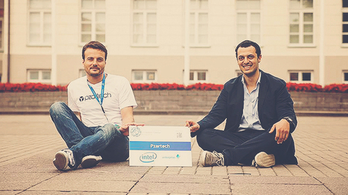 Pzartech foundersJeremieBrabet-Adonajlo and his partner Joachim Hagege. Credit: iiAwards.