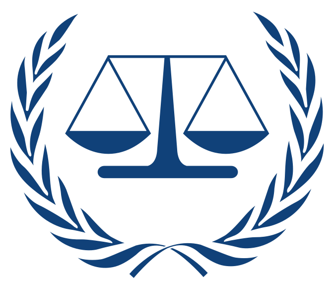 The The International Criminal Court logo. Credit: Wikimedia Commons.