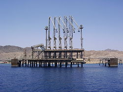 An oil jetty in Eilat, Israel. Credit: Wikimedia Commons.
