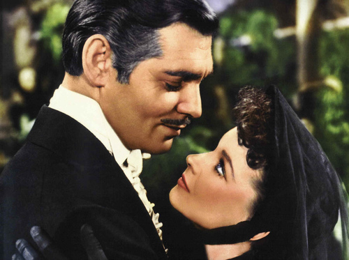 "Click photo to download. Caption: Clark Gable and Vivien Leigh in ""Gone with the Wind."" Credit: www.doctormacro.com."