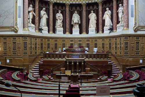 The meeting place of the French Senate in Luxembourg Palace, Paris. Credit: Jackintosh via Wikimedia Commons.