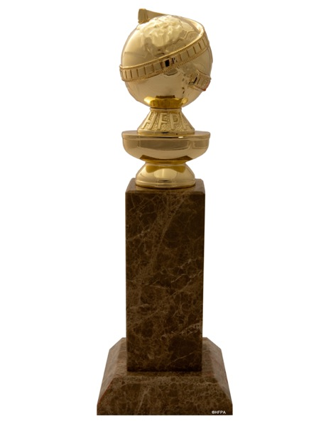 The Golden Globe trophy. Credit: Greg Harbaugh via Wikimedia Commons.