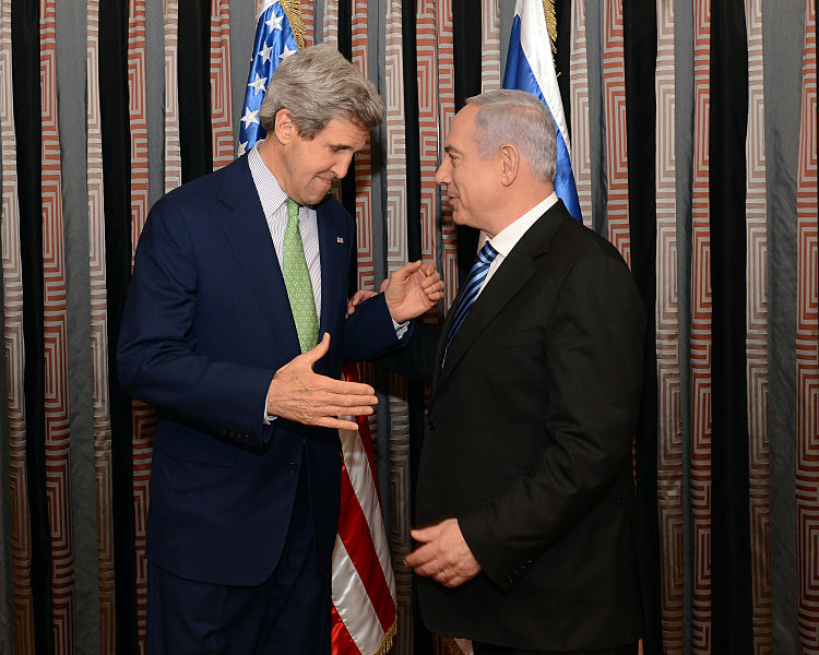 Israeli Prime Minister Benjamin Netanyahu and U.S. Secretary of State John Kerry met in Rome on Monday (image from an earlier meeting). Credit: Wikimedia Commons.