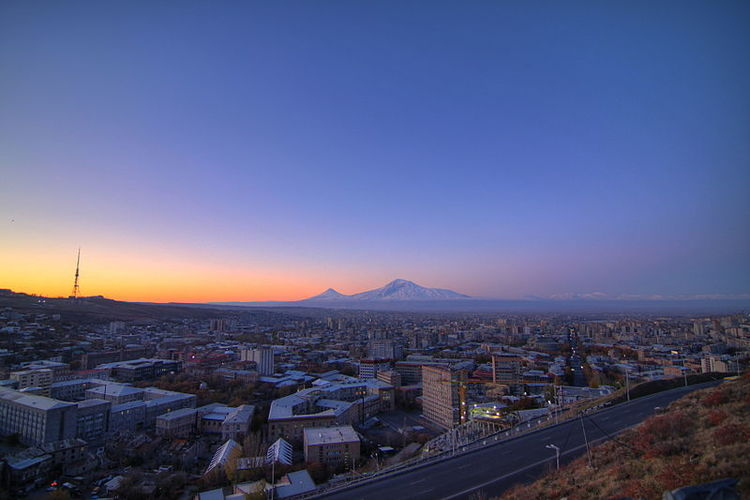 A view of the Armenian capital city of Yerevan. Credit: Wikimedia Commons.