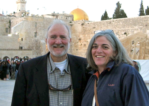 Alan Gross and his wife Judy in Jerusalem before his arrest in Cuba. Credit: Gross family.
