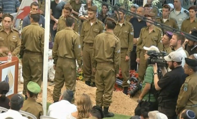 Max Steinberg's funeral. Credit: Israel Hayom video screenshot.