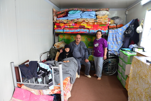 Click photo to download. Caption: Displaced Christians in cramped living conditions in Erbil, the largest city in Iraqi Kurdistan. Credit: Aid to the Church in Need (ACN).