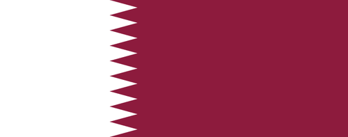 The flag of Qatar. Credit: Wikimedia Commons.