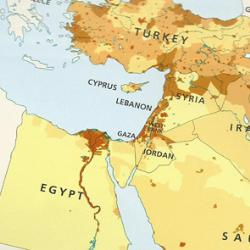 The HarperCollins Publishers map of the Middle East without Israel. Credit: HarperCollins Publishers.