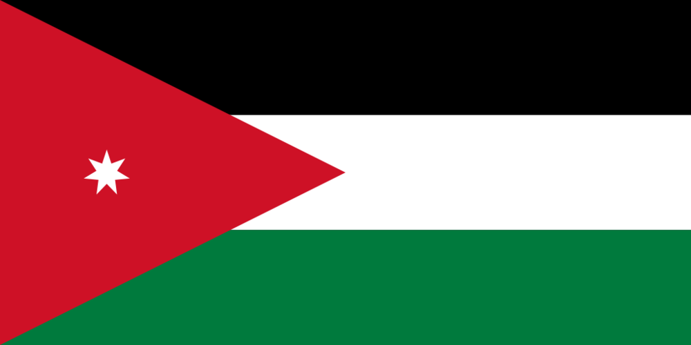 The Jordanian flag. Credit: Wikimedia Commons.