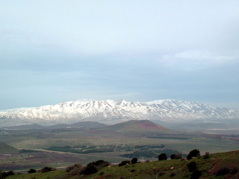 A snowy Mount Hermon in northern Israel. Credit: Almog via Wikimedia Commons.