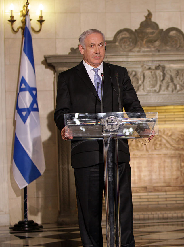 "Israel Prime Minister Benjamin Netanyahu called the Muslim terrorist shooting at the Charlie Hebdo satirical newspaper in Paris ""savagery."" Credit: Wikimedia Commons."