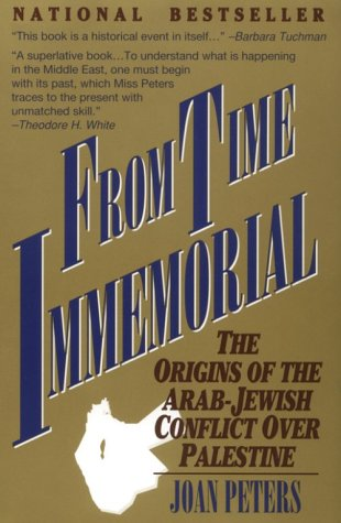 "The cover of Joan Peters's ""From Time Immemorial."" Credit: Amazon."