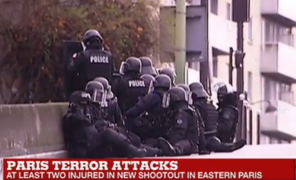 The scene of Friday's hostage crisis at a kosher grocery in eastern Paris. Credit: YouTube screenshot.