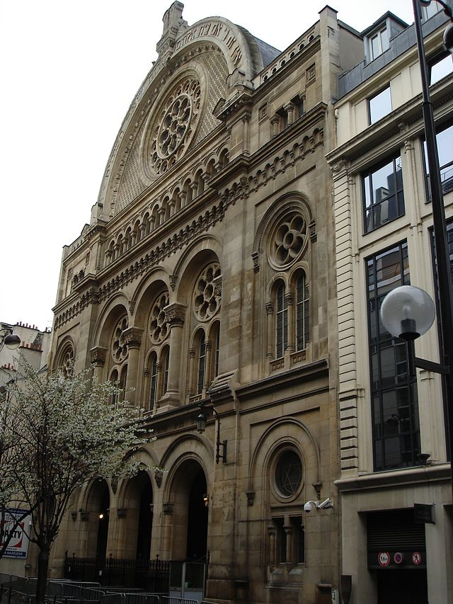 The Grand Synagogue in Paris. Credit: Wikimedia Commons.