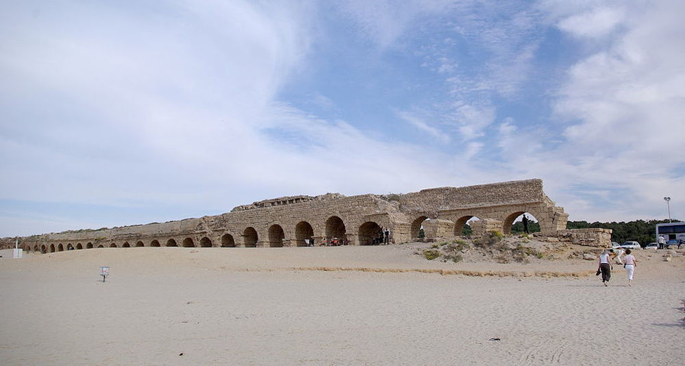 Click photo to download. Caption: The aqueduct in Caesarea, one of the 10 Holy Land honeymoon destinations presented by JNS.org. Credit: Berthold Werner via Wikimedia Commons.
